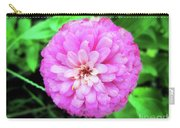 Double Pink Zinnia Carry-all Pouch
