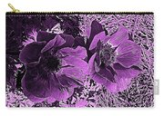 Double Poppies In Purple Carry-all Pouch