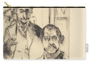 Double Portrait With Skeleton (doppelbildnis Mit Skelett) Carry-all Pouch