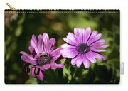 Double Purple African Daisy Carry-all Pouch
