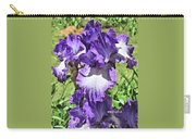 Double Ruffled Purple Iris Carry-all Pouch