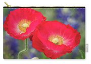 Double Take-two Red Poppies. Carry-all Pouch