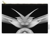 Double Vison Close-up Of Amaryllis Bloom Bw Carry-all Pouch