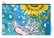 Dove And Sunflower Carry-all Pouch