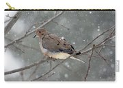 Dove In The Snow Carry-all Pouch