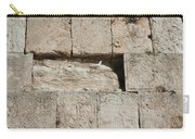 Dove On The Kotel Carry-all Pouch