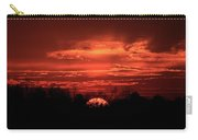 Down For The Count Sunset Art Carry-all Pouch