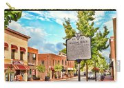 Downtown Blacksburg With Historical Marker Carry-all Pouch