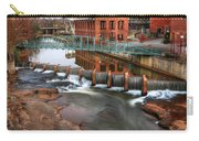 Downtown Greenville On The River Winter Carry-all Pouch