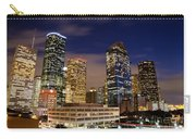 Downtown Houston At Night Carry-all Pouch by Olivier Steiner