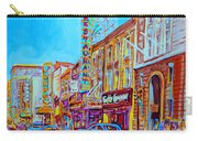 Downtown Montreal Street Rue Ste Catherine Vintage City Street With Shops And Stores Carole Spandau  Carry-all Pouch