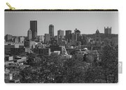 Downtown Pittsburgh In Black And White Carry-all Pouch