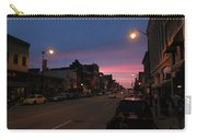Downtown Racine At Dusk Carry-all Pouch by Mark Czerniec