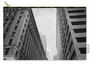Downtown San Francisco Street View - Black And White 2 Carry-all Pouch