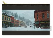 Downtown Wallace In Winter 2017 Carry-all Pouch