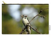 Downy Woodpecker In Fall Carry-all Pouch