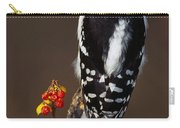 Downy Woodpecker On Tree Branch Carry-all Pouch