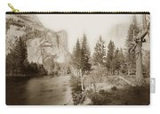 Domes And Royal Arches From Merced River Yosemite Valley Calif. Circa 1890 Carry-all Pouch