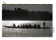 Dragon Boat Silhouette Carry-all Pouch by Stuart Turnbull