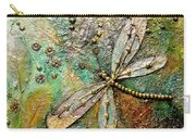 Dragon Fly  -mixed Media Carry-all Pouch