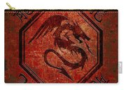Dragon In An Octagon Frame With Chinese Dragon Characters Red Tint  Carry-all Pouch