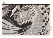 Dragon - Zentangle 16-04 Carry-all Pouch