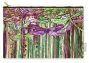 Dragonfly Bloomies 1 - Pink Carry-all Pouch