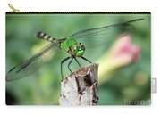 Dragonfly In The Flower Garden Carry-all Pouch