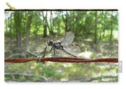 Dragonfly On Barbed Wire Carry-all Pouch