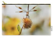 Dragonfly On Dead Bud Carry-all Pouch