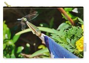 Dragonfly On Flag Carry-all Pouch