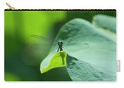 Dragonfly On Leaf Carry-all Pouch