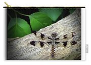 Dragonfly On Log Carry-all Pouch