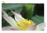 Dragonfly On Lotus Carry-all Pouch