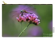 Dragonfly On Purple Verbena Carry-all Pouch