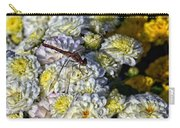 Dragonfly On White Mums Carry-all Pouch