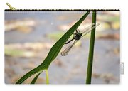Dragonfly Resting Upside Down Carry-all Pouch