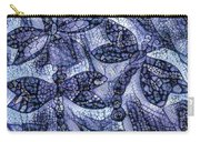 Dragons In Blue Mosaic Carry-all Pouch
