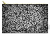 Dramatic Black And White Petals On Stones Carry-all Pouch