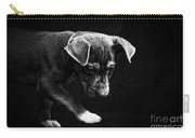 Dramatic Black And White Puppy Dog Carry-all Pouch