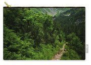 Dramatic Mountain Landscape With Distinctive Green Carry-all Pouch