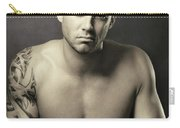 Dramatic Portrait Of A Kickboxer Carry-all Pouch