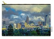Dramatic Sky With Clouds Over Charlotte Skyline Carry-all Pouch