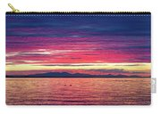 Dramatic Sunset Colors Over Birch Bay Carry-all Pouch