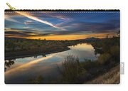 Dramatic Sunset Over Boise River Boise Idaho Carry-all Pouch