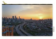 Dramatic Sunset Over Kuala Lumpur City Skyline Carry-all Pouch