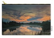 Dramatic Sunset Over The Misty River Carry-all Pouch
