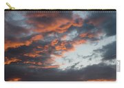 Dramatic Sunset Sky With Orange Cloud Colors Carry-all Pouch