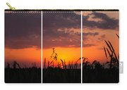 Dramatic Sunset Triptych Carry-all Pouch