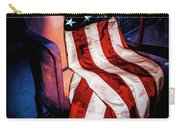 Draped American Flag Carry-all Pouch